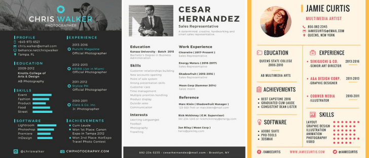 50 inspiring resume designs and what you can learn from