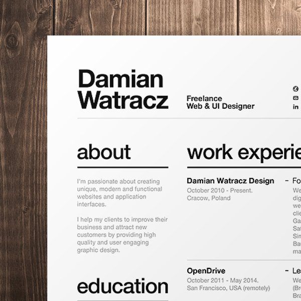 Good Fonts For Graphic Design Resumes