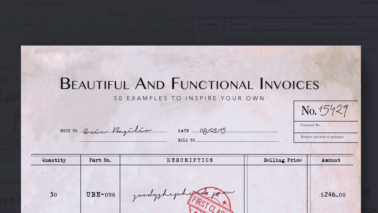 Invoice Design Examples To Inspire You - Free invoice template for word 2010 dress stores online