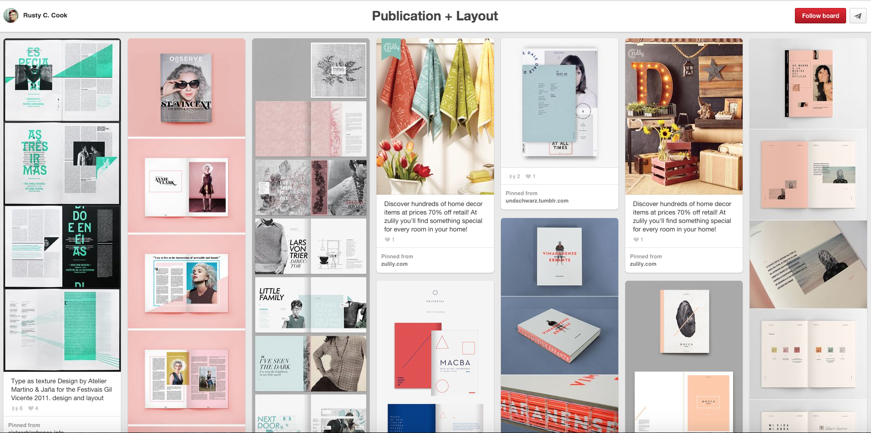70 Awesome Design Boards to Follow On Pinterest – Learn
