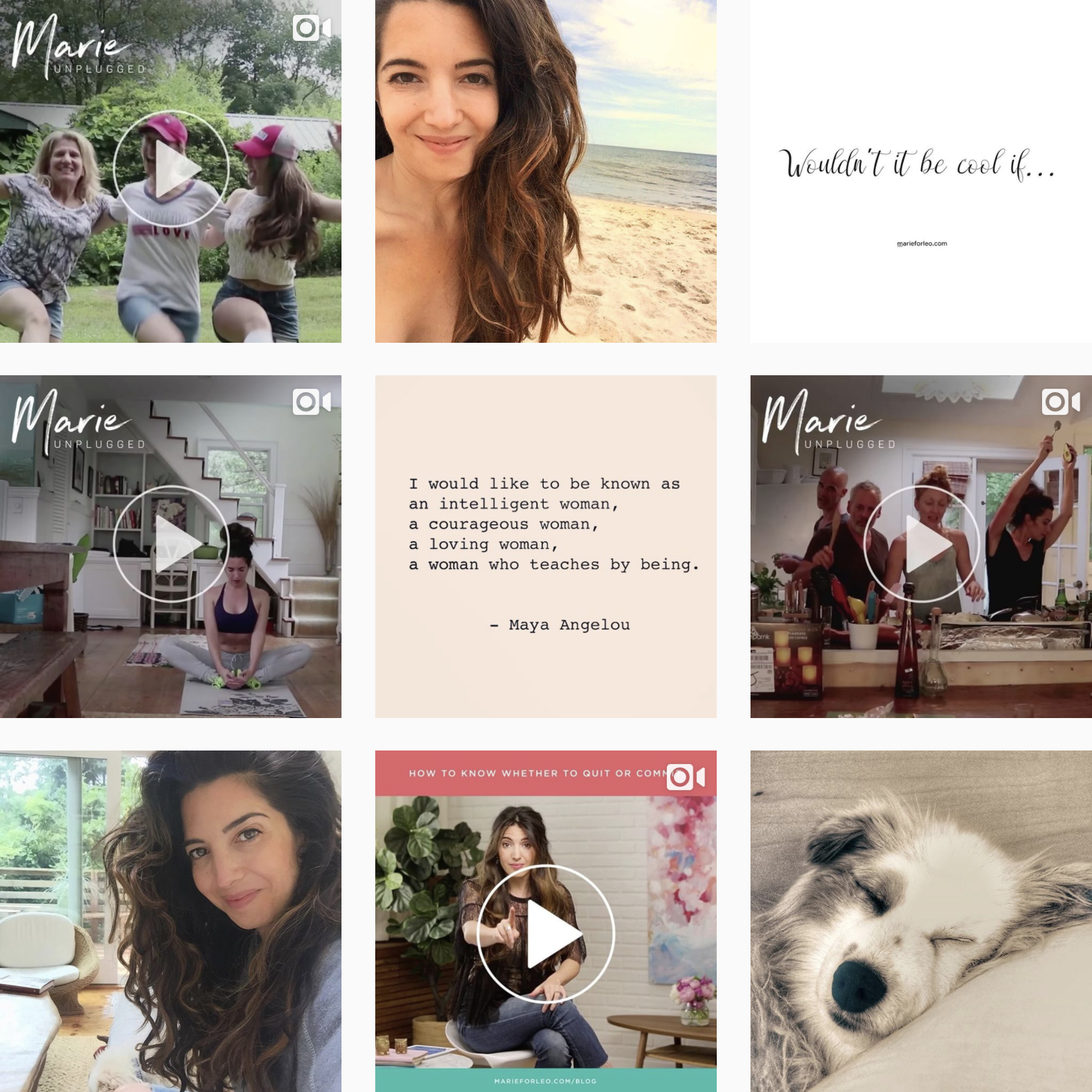 Marie Forleo's Instagram stream