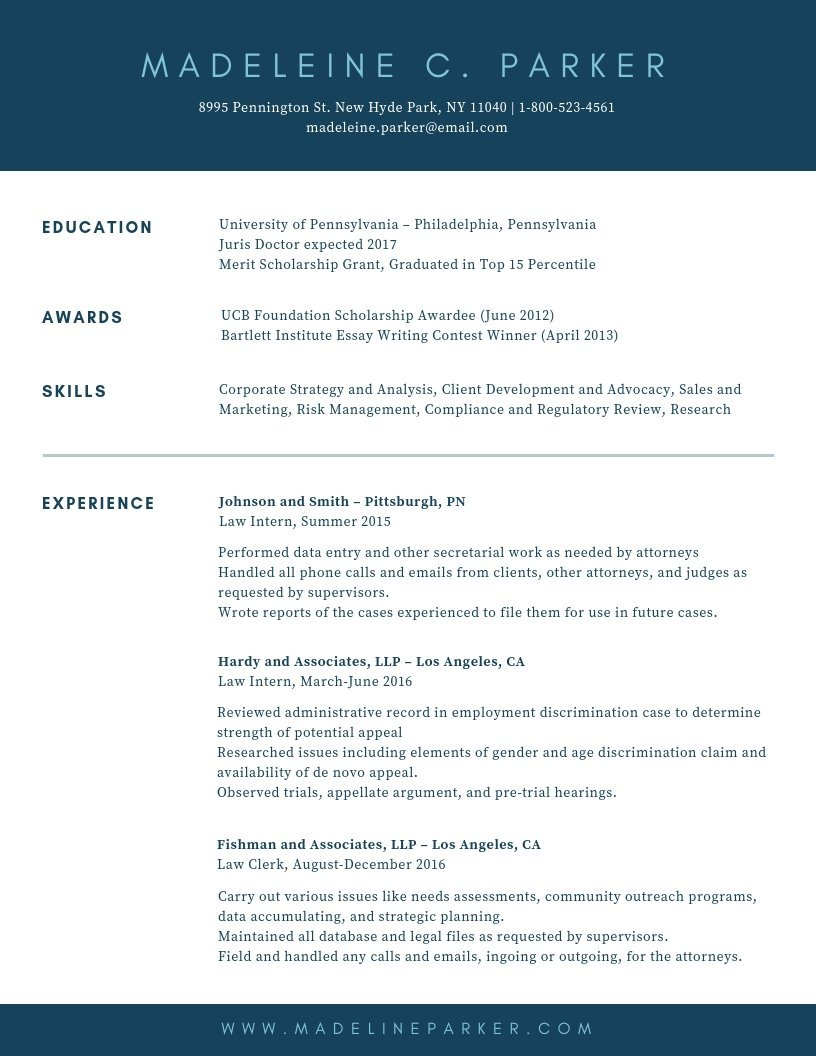 10 Resume Templates To Help You Get Your Next Job Learn