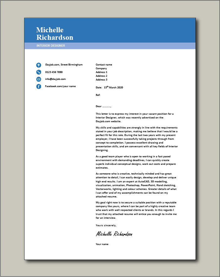 25 Cover Letter Examples Canva Learn
